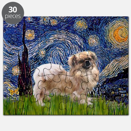 Starry Night Tibetan Spaniel Puzzle