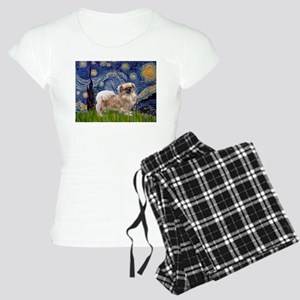 Starry Night Tibetan Spaniel Women's Light Pajamas