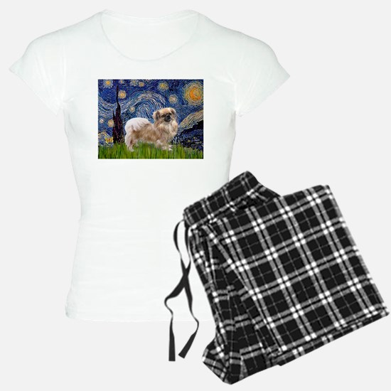 Starry Night Tibetan Spaniel Pajamas