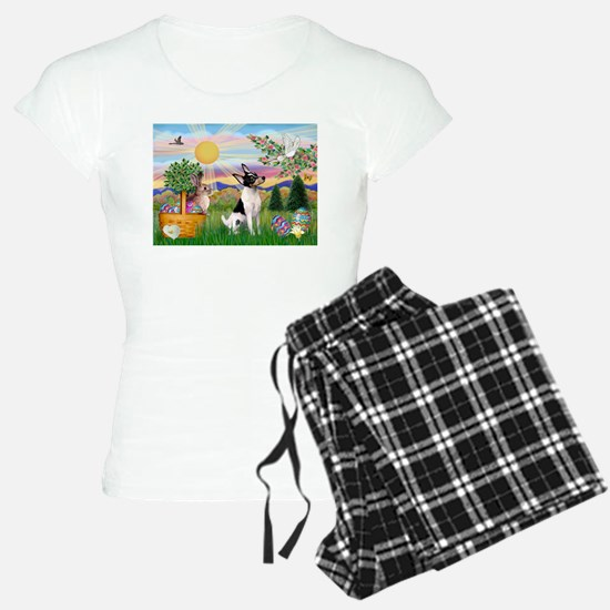 Toy Fox Terrier Easter Pajamas