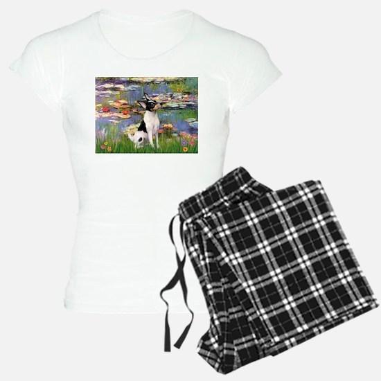 Lilies & Toy Fox Terier Pajamas