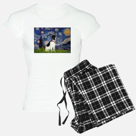 Starry Night & Toy Fox Terrie Pajamas