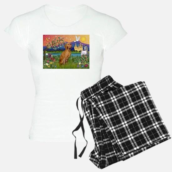 Vizsla in Fantasyland Pajamas