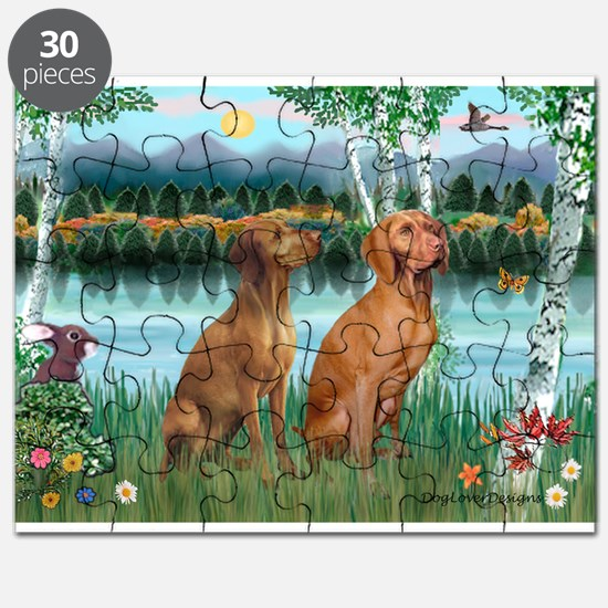 Birches / Vizsla pair Puzzle