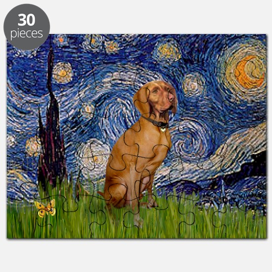 Starry Night & Vizsla Puzzle