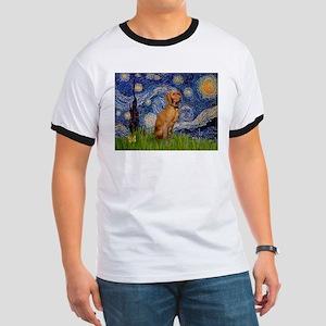 Starry Night & Vizsla Ringer T