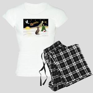 Night Flight/Weimaraner Women's Light Pajamas