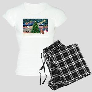 XmasMagic/Weimaraner 4 Women's Light Pajamas