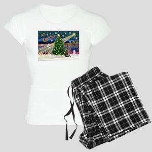 XmasMagic/Weimaraner 2 Women's Light Pajamas