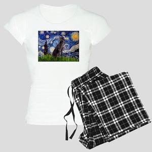 Starry Night Weimaraner Women's Light Pajamas