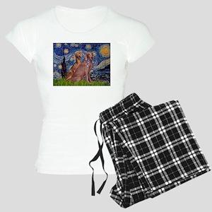 Starry Night Weimaraners Women's Light Pajamas