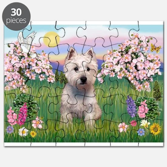 Blossoms & Westie Puzzle