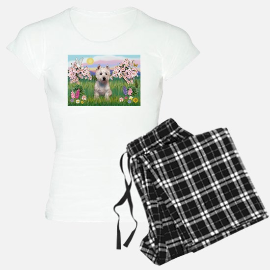 Blossoms & Westie Pajamas
