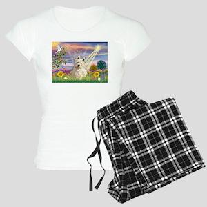Cloud Angel/Westie #1 Women's Light Pajamas