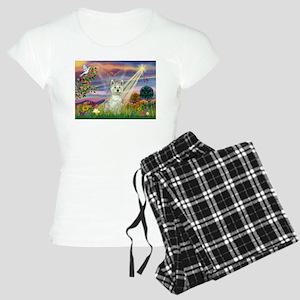 Cloud Angel / Westie Women's Light Pajamas
