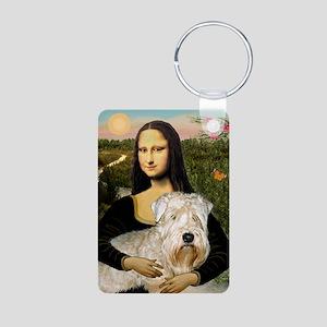 Mona's Wheaten Aluminum Photo Keychain