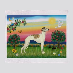 Bright Country / Whippet Throw Blanket