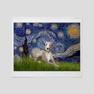 Starry Night & Whippet Throw Blanket