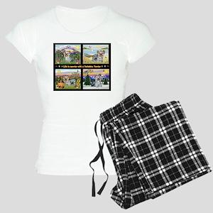 4 Seasons with a Yorkie Women's Light Pajamas