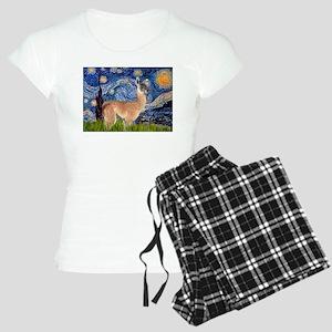 Starry Night Llama Women's Light Pajamas