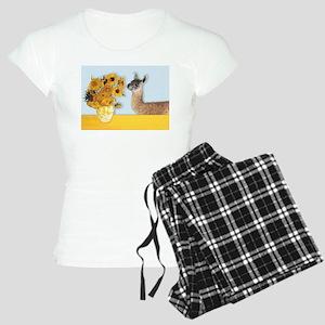 Sunflowers & Llama Women's Light Pajamas
