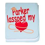 Parker Lassoed My Heart baby blanket