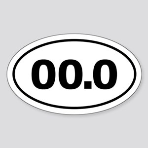 No Marathon 00.0 Sticker (Oval)