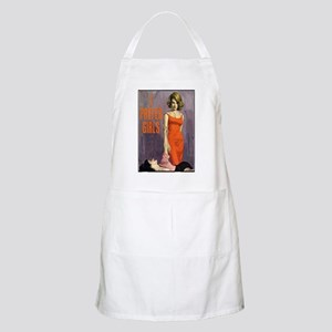 I PREFER GIRLS Collage Apron