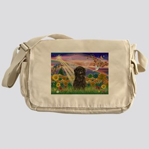 Autumn Angel & Affenpinscher Messenger Bag