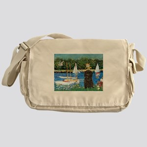 Sailboats & Affenpinscher Messenger Bag
