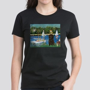 Sailboats & Affenpinscher Women's Dark T-Shirt