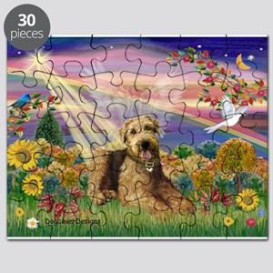 Autumn Angel Airedale (#5) Puzzle