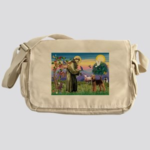 Saint Francis & Airedale Messenger Bag