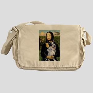 Mona Lisa/Cattle Dog Messenger Bag