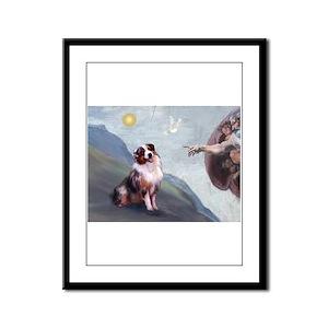 Creation / Australian Shepher Framed Panel Print