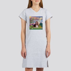 Cloud Angel & Basset Women's Nightshirt