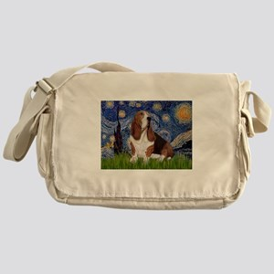 Starry Night Basset Messenger Bag