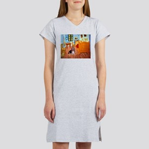 Room with a Basset Women's Nightshirt