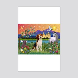 Fantasy Land & Beagle Mini Poster Print