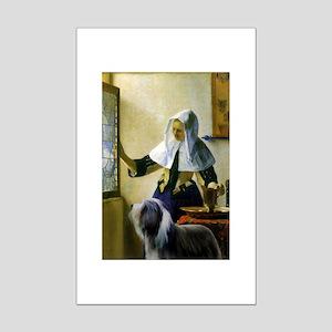 By Vermeer + Beardie Mini Poster Print