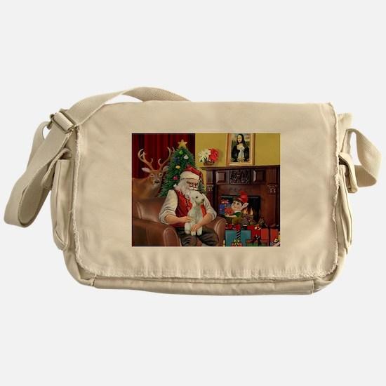 Santa's Bedlington Messenger Bag