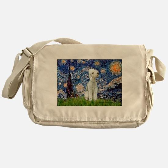 Starry Night Bedlington Messenger Bag