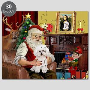 Santa's Bichon Frise Puzzle