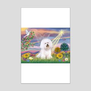Cloud Angel & Bichon Mini Poster Print