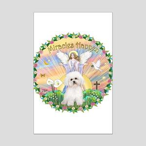 Miracles - Bichon Frise Mini Poster Print