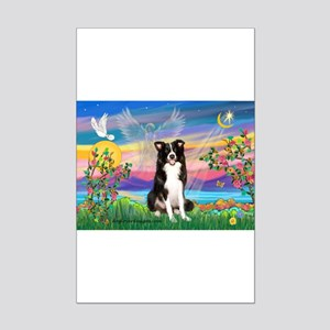 GUARDIAN ANGEL/BORDER COLLIE Mini Poster Print