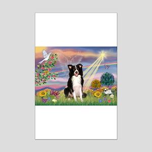 Cloud Angel Border Collie Mini Poster Print
