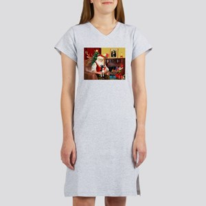 Santa's Boston Terrier Women's Nightshirt