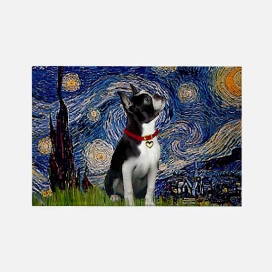 Starry Night & Boston Rectangle Magnet