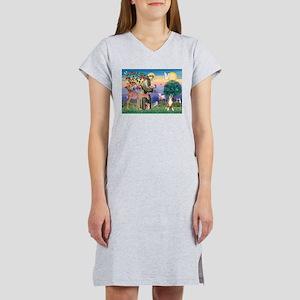 Saint Francis /Boxer Women's Nightshirt